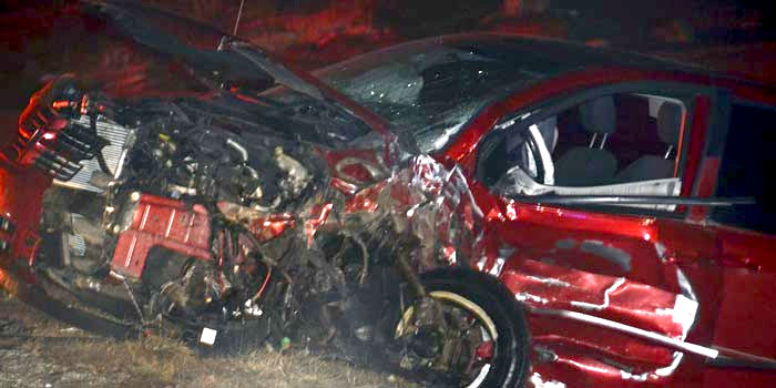 One of the vehicles involved in the crash on SR 15 Saturday night, Feb. 29.